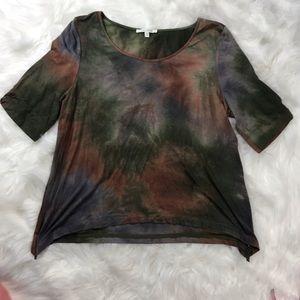 Ava James Dark Tie Dye Shirt Size 10